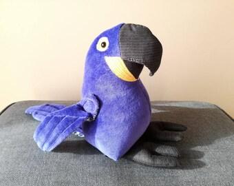 Hyacinth Macaw Plush Birdie, Cuddly Parrot Soft Toy