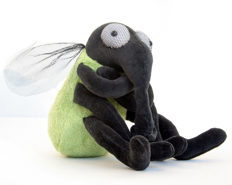 Green House Fly  Plush Halloween Toy plushie Insect stuffed image 0