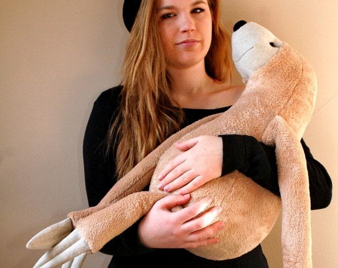 XXL Sloth Cuddly Plush, Stuffed Animal Toy for Children, Nursery Decor