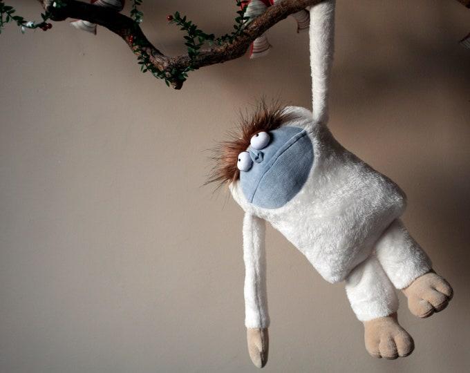 Yeti, Monster toy, Bigfoot Plush, Soft Funny Mountain Snowman, White Plush Sasquatch Toy, Adorable Nursery Decor