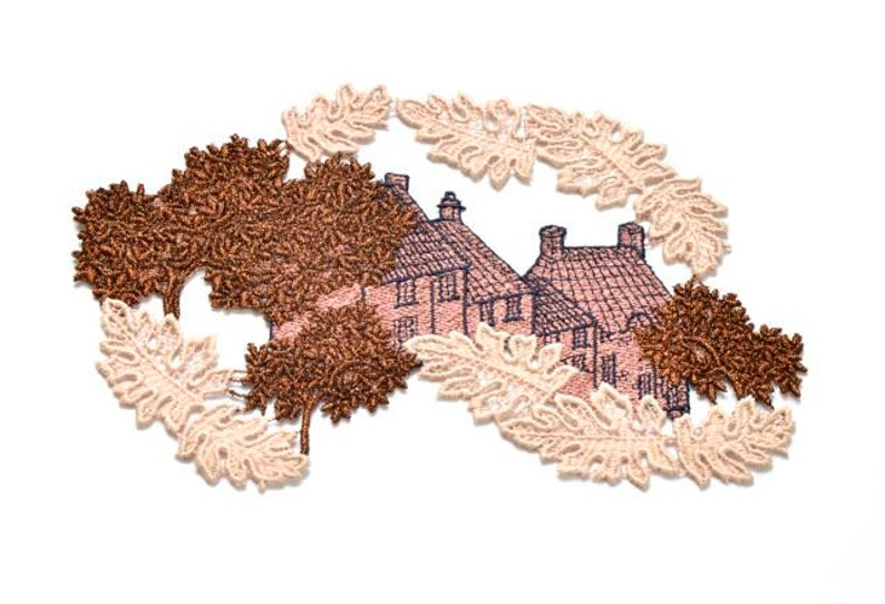English country cottages appliques english country house etsy