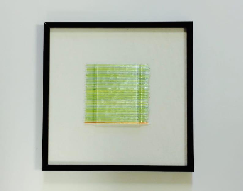 Framed Art Glass Dimensional Sculptural Abstract Art Spring image 0
