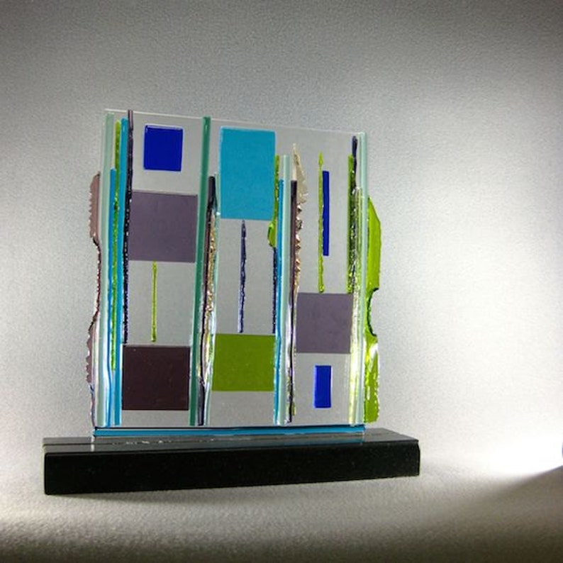 Mid Century Modern Abstract Art Glass Contemporary Sculpture image 0