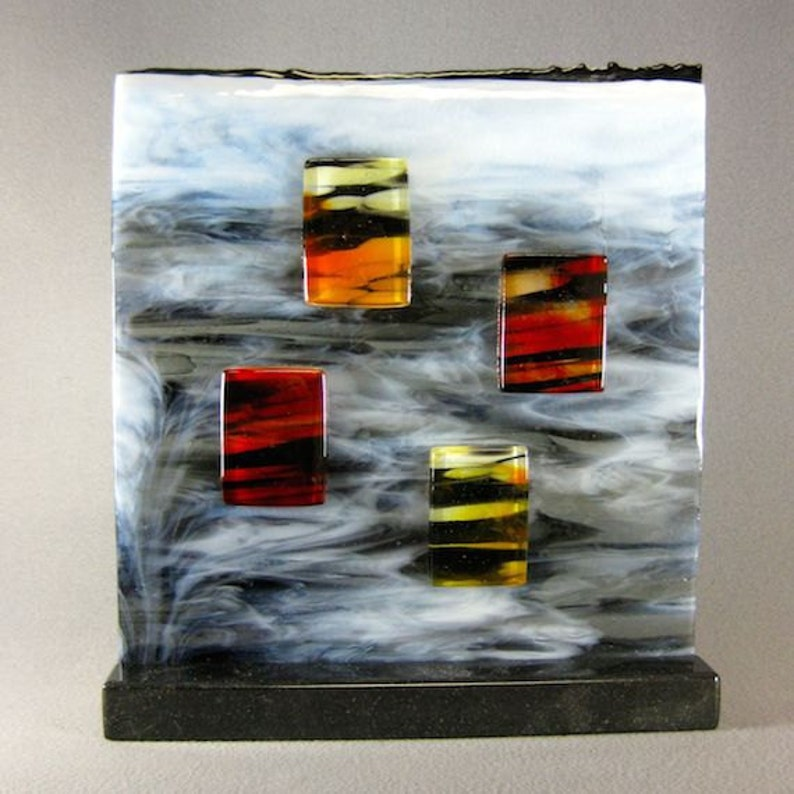 Art Glass Modern Contemporary Sculpture Windows In The Clouds image 0
