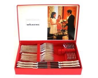 "Silverplate Flatware Set, Wilkens ""August der Starke,"" Service for 6, Dessert Set"