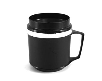 8 oz Aladdin Travel Mug, Black Insulated Coffee Cup, 1-cup Size