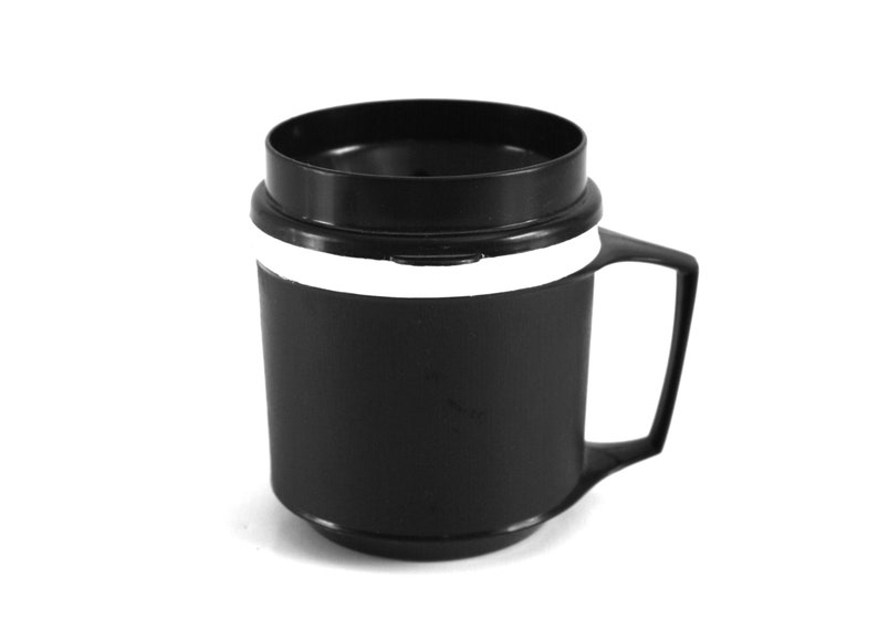 8 oz Aladdin Travel Mug Black Insulated Coffee Cup 1-cup image 0