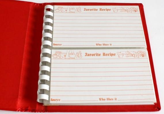 blank recipe book blank cookbook recipe card binder folder etsy