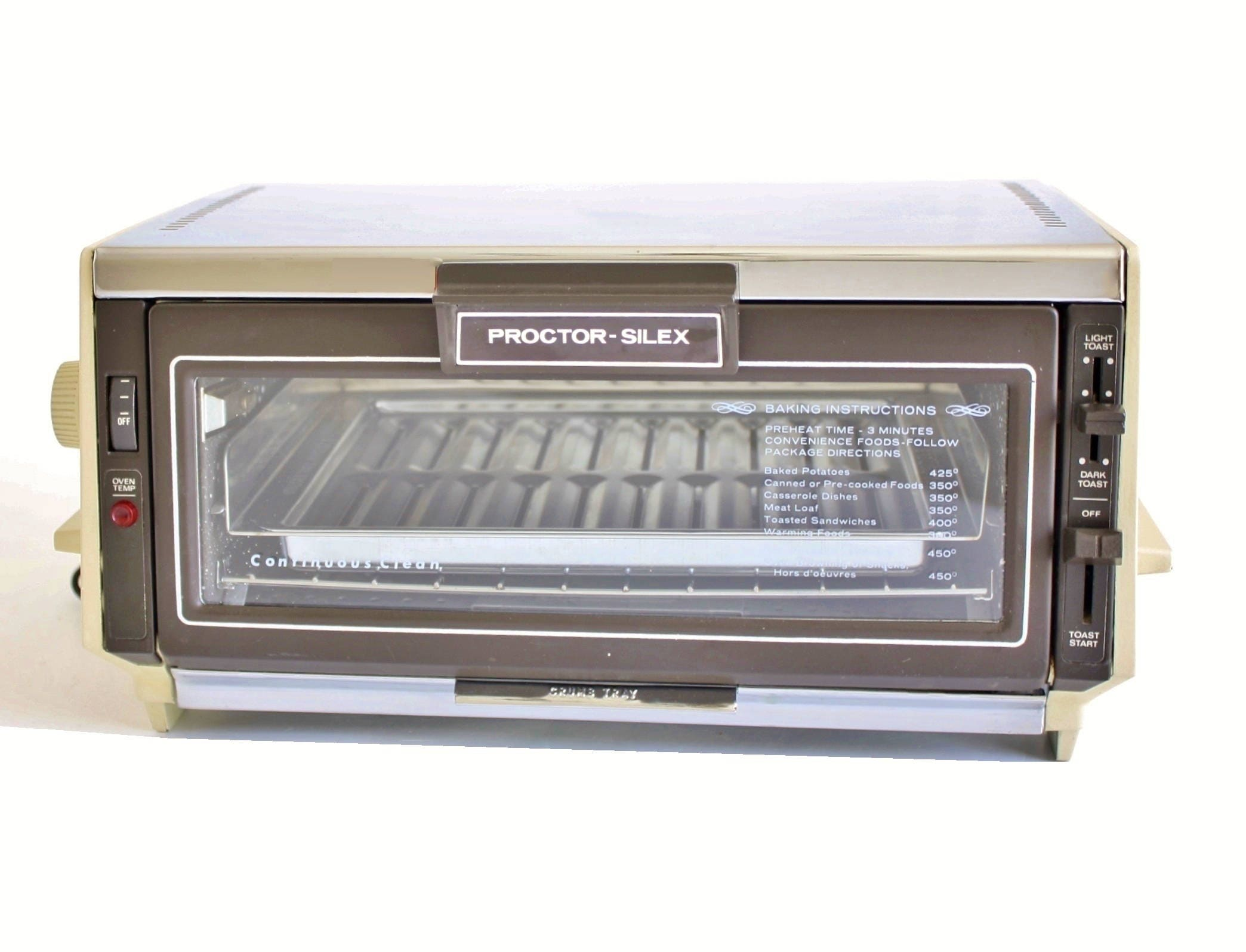 Proctor Silex Toaster Oven 0221al Made In Usa Small