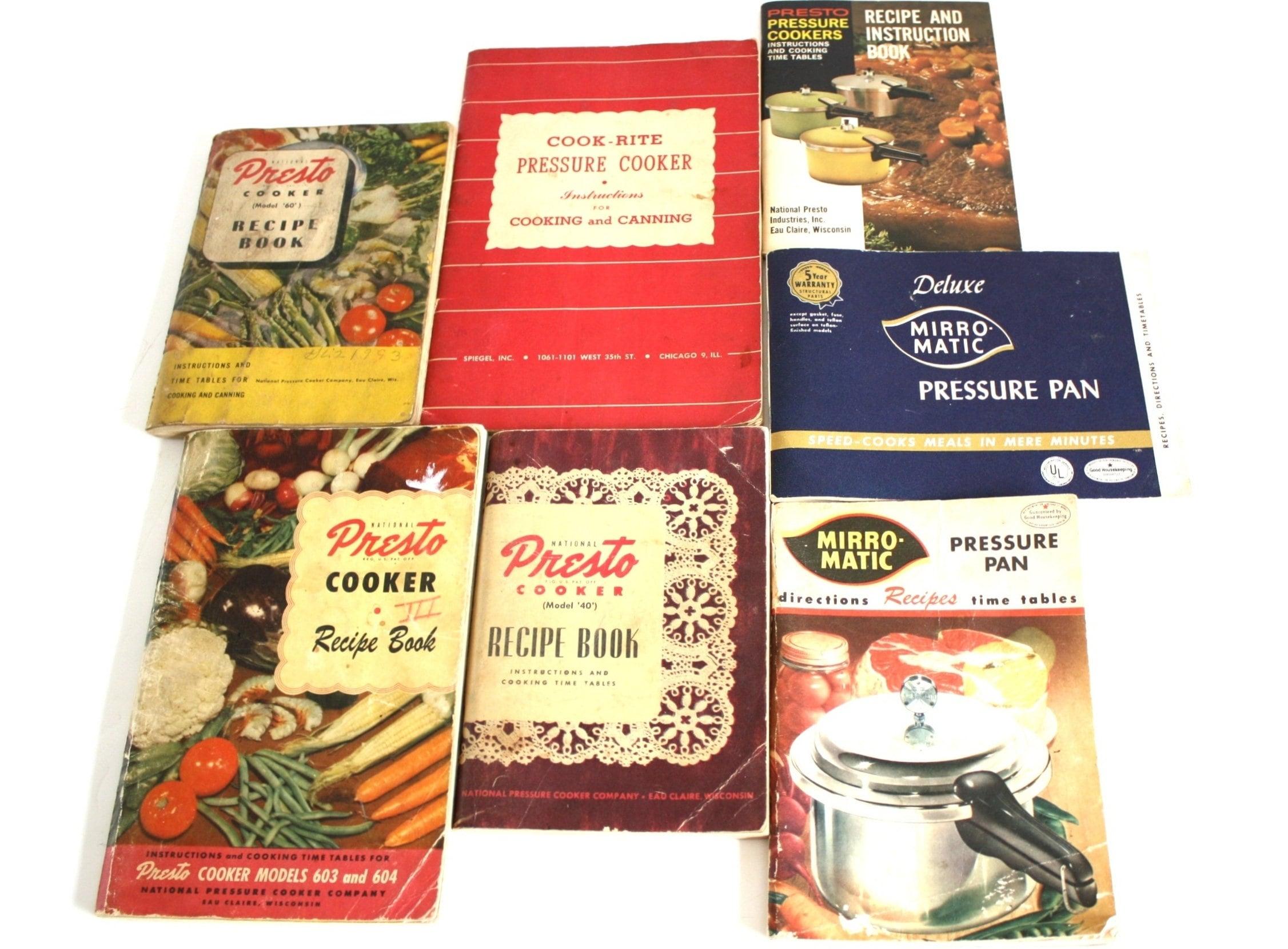 Presto Cook Rite Mirro Pressure Cooker Recipe Book Instruction Etsy