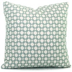 Schumacher Betwixt in Water Mineral Decorative Pillow Cover, Toss Pillow, Accent Pillow, Throw Pillow, Aqua spa pillow, Square, Eurosham