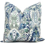 Schumacher Layla Paisley Decorative Pillow Cover 18x18, 20x20 or 22x22, Eurosham 14x20 or 12x24 Throw pillow