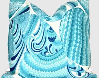 Trina Turk Pisces  Indoor Outdoor Decorative Pillow Cover, Schumacher 18x18, 20x20, 22x22 or lumbar