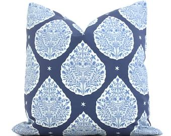 Blue Lotus Flower  Decorative Pillow Cover, Throw Pillow, Accent Pillow, Pillow Sham  Lacefield Textiles