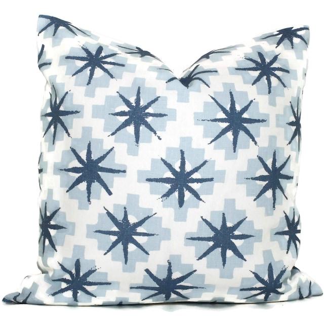Peter Dunham Blue Starburst Decorative Pillow Cover 40x40 Etsy Simple Starburst Decorative Pillow