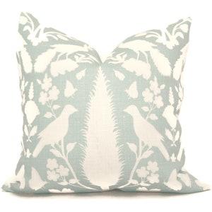 Schumacher Pillow Tan Pillow COVER ONLY Peacock Pillow Cover Chenonceau Fawn Pillow Cover- Brown Bird Pillow