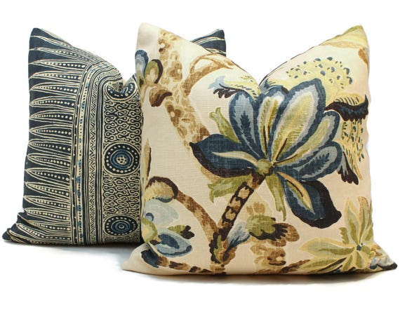 Schumacher Kemscott Manor Jacobean Pillow Cover 40x40 40x40 Etsy New Etsy Pillow Covers 20x20