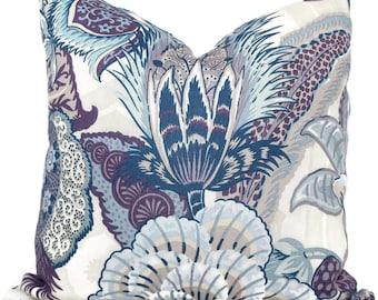 Schumacher Hyacinth  Decorative Pillow Cover 18x18, 20x20, 22x22, 24x24, Eurosham or Lumbar Pillow, Schumacher floral pillow