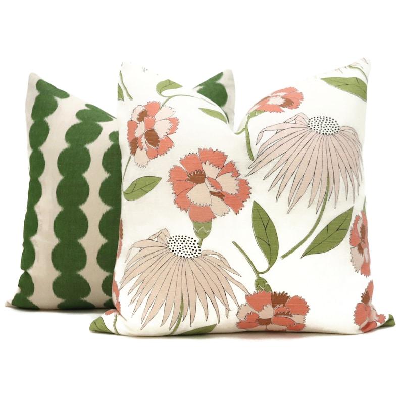 Celerie Kemble Bouquet Toss Blush Decorative Pillow Cover Etsy
