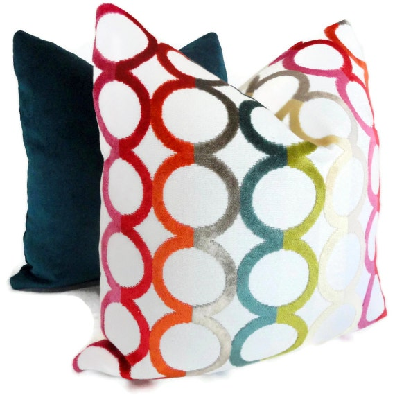 Jonathan Adler Decorative Pillow Cover Multicolor Ringleader Etsy Amazing Multicolored Decorative Pillows