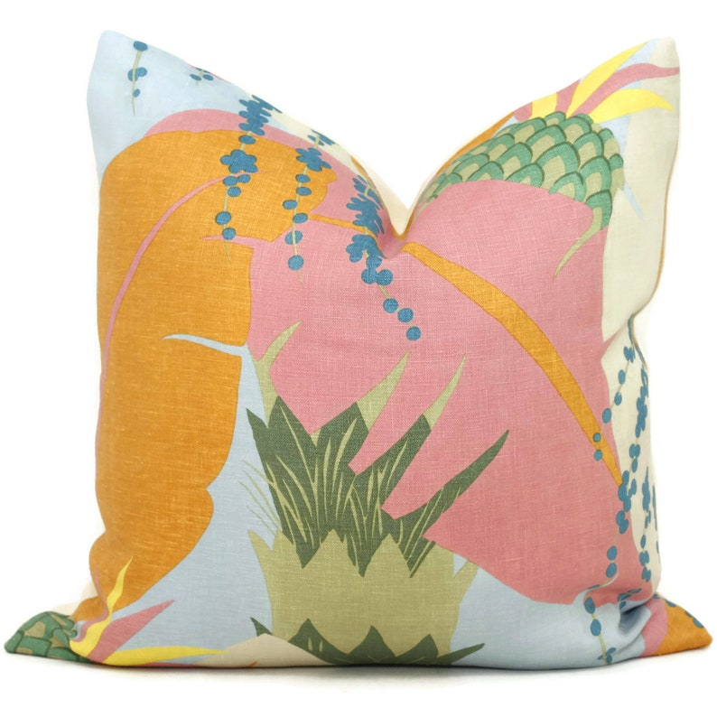 Schumacher Tropical Ananas Decorative Pillow Covers 18x18 image 0