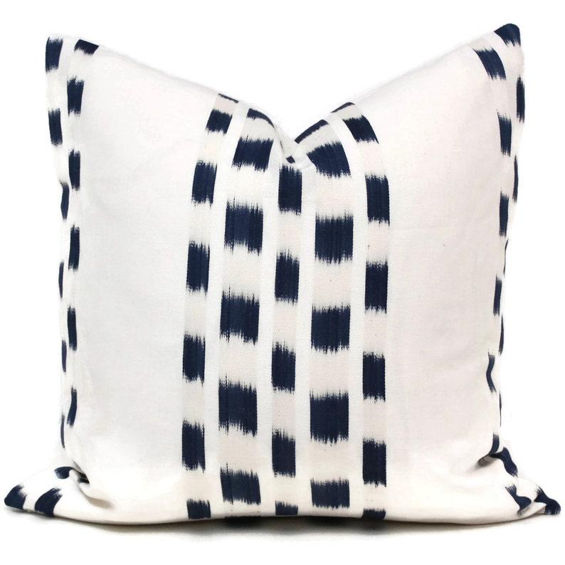 Square or Lumbar pillow Accent Pillow Throw Pillow Schumacher Blue Izmir Ikat Decorative Pillow Cover