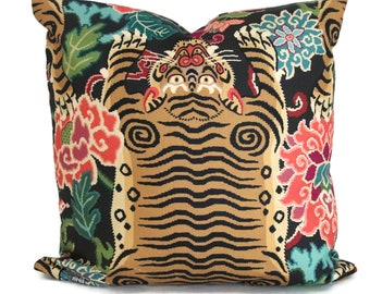 Tibet Tiger Decorative Pillow Cover 18x18, 20x20, 22x22, Eurosham or  Lumbar pillow cover throw pillow accent cushion toss pillow multicolor