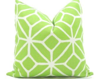 Trina Turk Green Trellis Indoor Outdoor Pillow Cover, Schumacher, 18x18, 20x20, 22x22 or 14x20