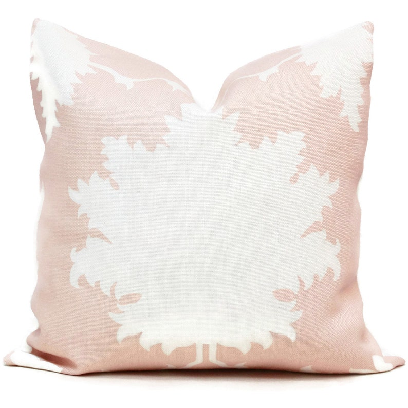 Garden of Persia Decorative Pillow Cover Blush Pink Square image 0