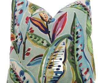 Birds of Paradise Tropical Pillow Cover, Square, Eurosham or Lumbar Pillow, Accent Pillow, Throw Pillow Cover, Pillow Cushion