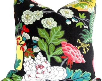 Ebony Schumacher Chiang Mai Dragon Pillow Covers 18x18, 20x20, 22x22 or lumbar pillow, Made to order pillow cover