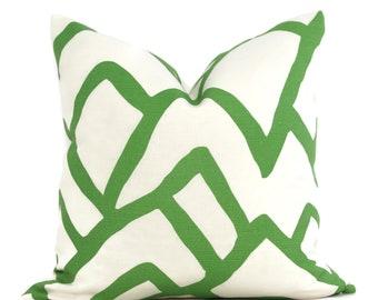 Schumacher Lawn Green Zimba Decorative Pillow Cover, 20x20 22x22 Eurosham, Lumbar pillow Toss Pillow, Accent Pillow, Throw Pillow