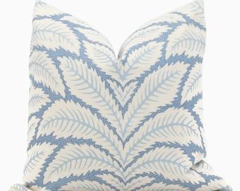 Blue Talavera Pillow Cover by Brunschwig  & Fils  Decorative Pillow Cover 18x18, 20x20, 22x22 euro Lumbar pillow, Accent Pillow