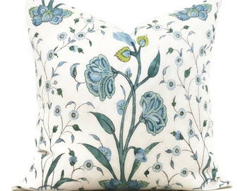Schumacher Peacock Khilana Decorative Pillow Cover 18x18, 20x20 or 22x22, Eurosham 14x20 or 12x24 Throw pillow cover