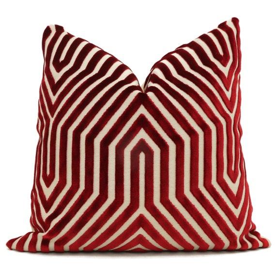 26 or lumbar pillow throw pillow chevron marine velvet 22 Decorative Pillow Cover Schumacher Light Blue Vanderbilt Velvet 18 20 24