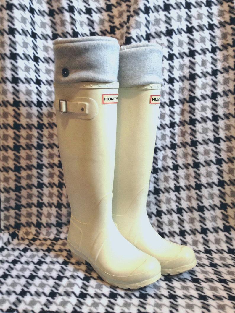 08b60f89539ba SLUGS Fleece Rain Boot Liners Solid Light Heather Gray Fall   Etsy