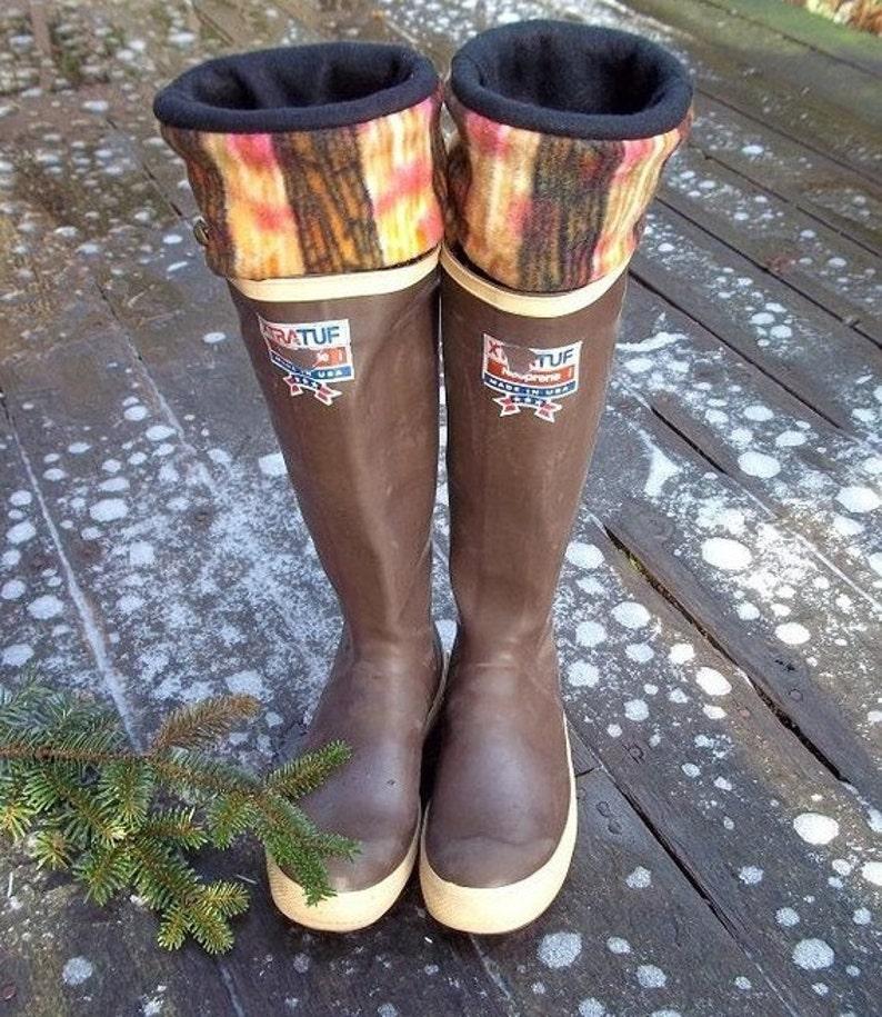 a83e5f066189e SLUGS Fleece Rain Boot liners in Black with Tie Dye Pattern   Etsy