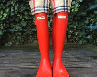 SLUGS Boot Liners London  Plaid, Cold weather  Sock, Christmas Gift For Her, Hunters Socks, Tall Socks, Cold Winter Accessory, Cozy Socks