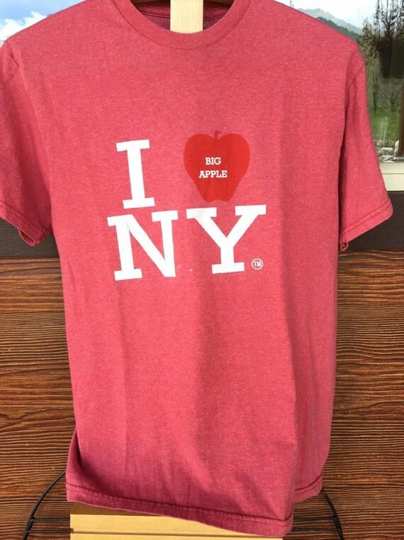 I Love New York NY Big Apple Vintage Retro 1980s 1