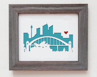 Sydney, Australia.  Personalized Gift or Wedding Gift