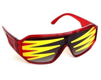 Rasslor Side Spikes Mirror Shield Sunglasses