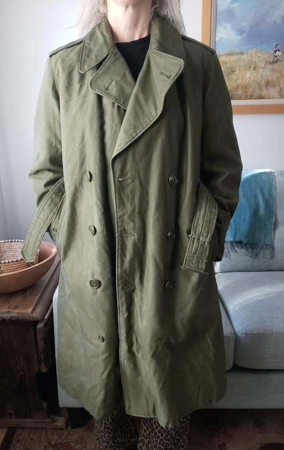 1960's Military Overcoat with Removable Wool Liner