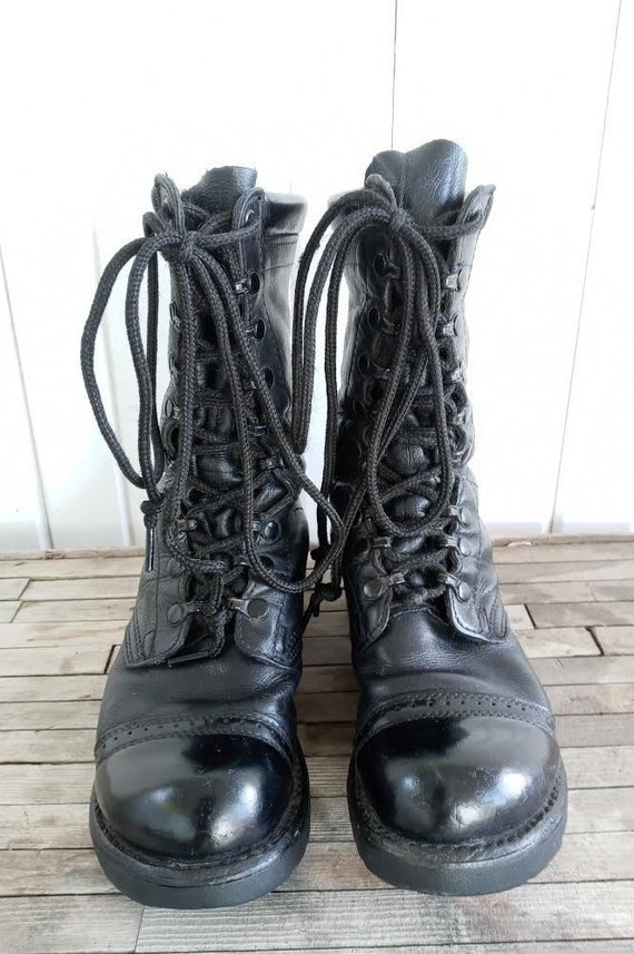 Vintage Leather Combat Corcoran Boots - image 1