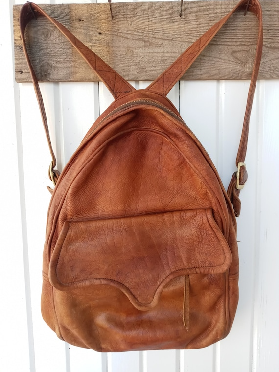 60's Leather Backpack