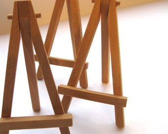 Table Top Easel - Set of 6 Mini Solid Wood Easels