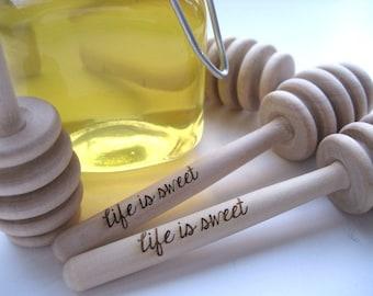 Set of 36 Life is Sweet Engraved Honey Dipper