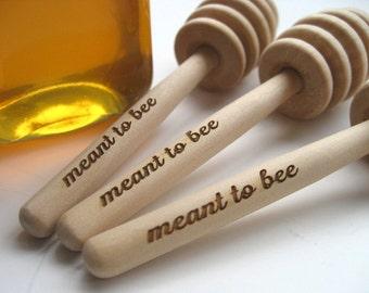 HONEY Dipper Wedding Favor  - Meant To Bee Engraved Honey Dipper - Set of 50