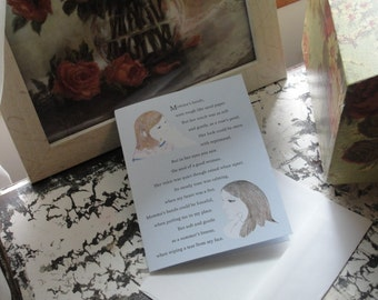 """Mother's Day Greeting Card with verse titled """"Momma's Hands""""."""