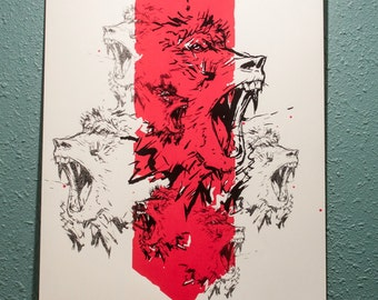 Official print for Swans and their show at the Bluebird in Denver
