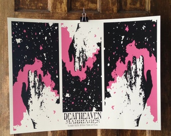 Official Print for The Deafheaven and Marriages show at the Marquis theater in Denver on July 9th